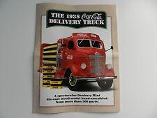Danbury Mint 1938 COCA COLA DELIVERY TRUCK Brochure Pamphlet Mailer