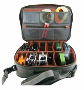 Large-Fly-Fishing-Reel-Case-Hard-Sided-With-Padded-Interior-Shoulder-Strap