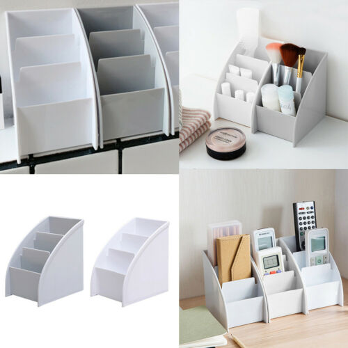 Plastic Storage Box Home Office Table Desktop Organizer TV Remote Control Holder