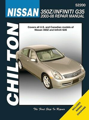 2003-2008 Nissan 350Z Infiniti G35 Chilton Repair Service Workshop Manual 7314