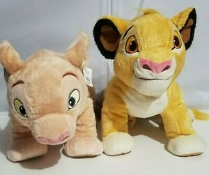 Disney-Store-Exclusive-Lion-King-Simba-Nala-Plush-Cub-Stuffed-Animals-Lot-13-034