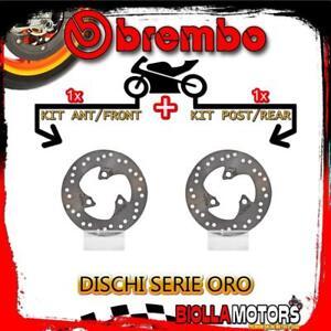 BRDISC-1684 KIT BREMSSCHEIBEN BREMBO MBK NITRO 2003- 100CC [VORDERE+HINTEN] [FIX