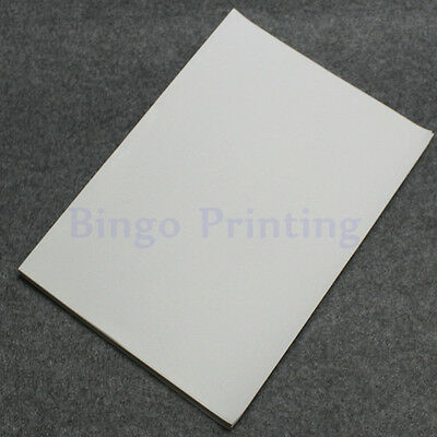 50 X Waterproof Polymer Paper Synthetic Paper Blank Sticker For Laser  Printer 608119737376 | eBay