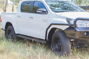 Rock-Armor-Rocksliders-Side-Steps-For-New-Toyota-Hilux-2015-2017-Powder-Coated