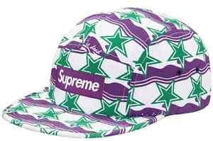 ac891f7b Supreme SS16 You're Dead Camp Cap Green Striped Box Logo Hat Classic ...