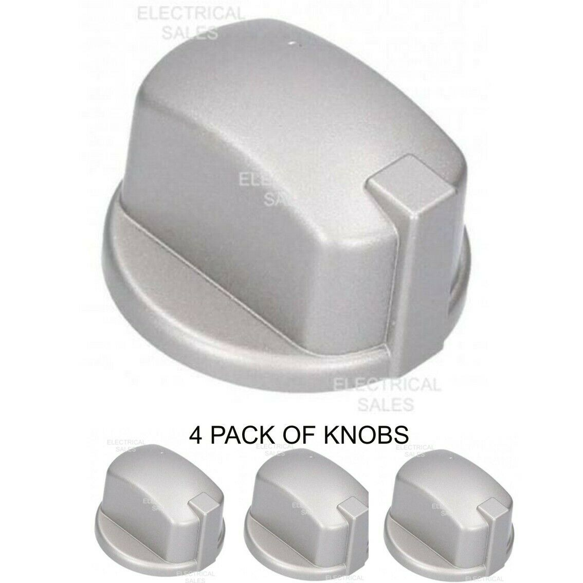 FITS HOTPOINT INDESIT OVEN COOKER KNOB GAS SWITCH SILVER INOX C00284958 x 3 PACK