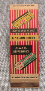 Vintage Matchbook Cover Beech-Nut Spearmint Gum No Reserve d0070