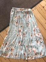 Plisseret nederdel , str. 36, H&M , Pastel grøn