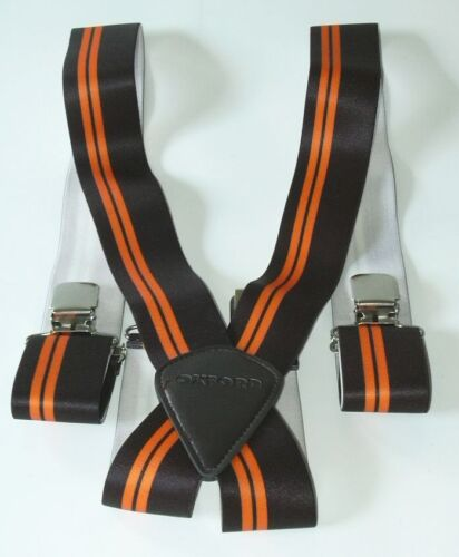 Oxford Hosenträger Biker extra Breit 50mm orange-schwarz cruiser Riggers-Braces