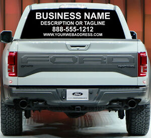 CUSTOM SIGN REAR WINDOW BUSINESS LETTERING AD CAR TRUCK VAN - Custom truck decals vinyls
