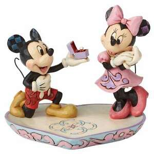 Disney Traditions Mickey & Minnie Proposition Neuf / Ovp Magical Moment Figurine