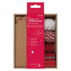 Geschenkanhaenger-034-Large-Gift-Tag-Kit-034-Tags-Kordel-Christmas-Weihnachten