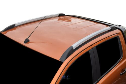 FORD RANGER T6 DOUBLE CAB SILVER ROOF RACK BARS  ROOF RAILS SKI RACKS OE STYLE