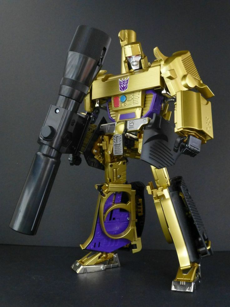Transformers Masterpiece 30th MP-05G Gold Megatron New Loose No Box