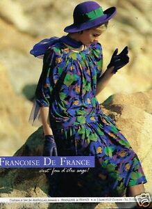 Françoise De France Prêt À Porter publicité advertising 1989 pret à porter vetement robe francoise de
