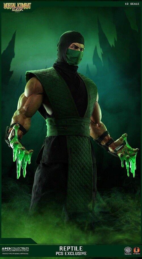 1 3 Mortal Kombat Klassic Reptile Statue Exclusive Pop Culture Used JC