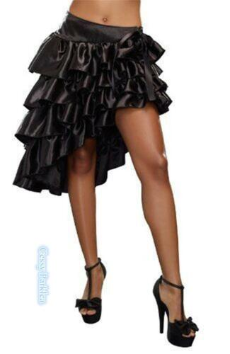 Ladies Burlesque Party Saloon Can Can Show Girl Satin Skirts Black