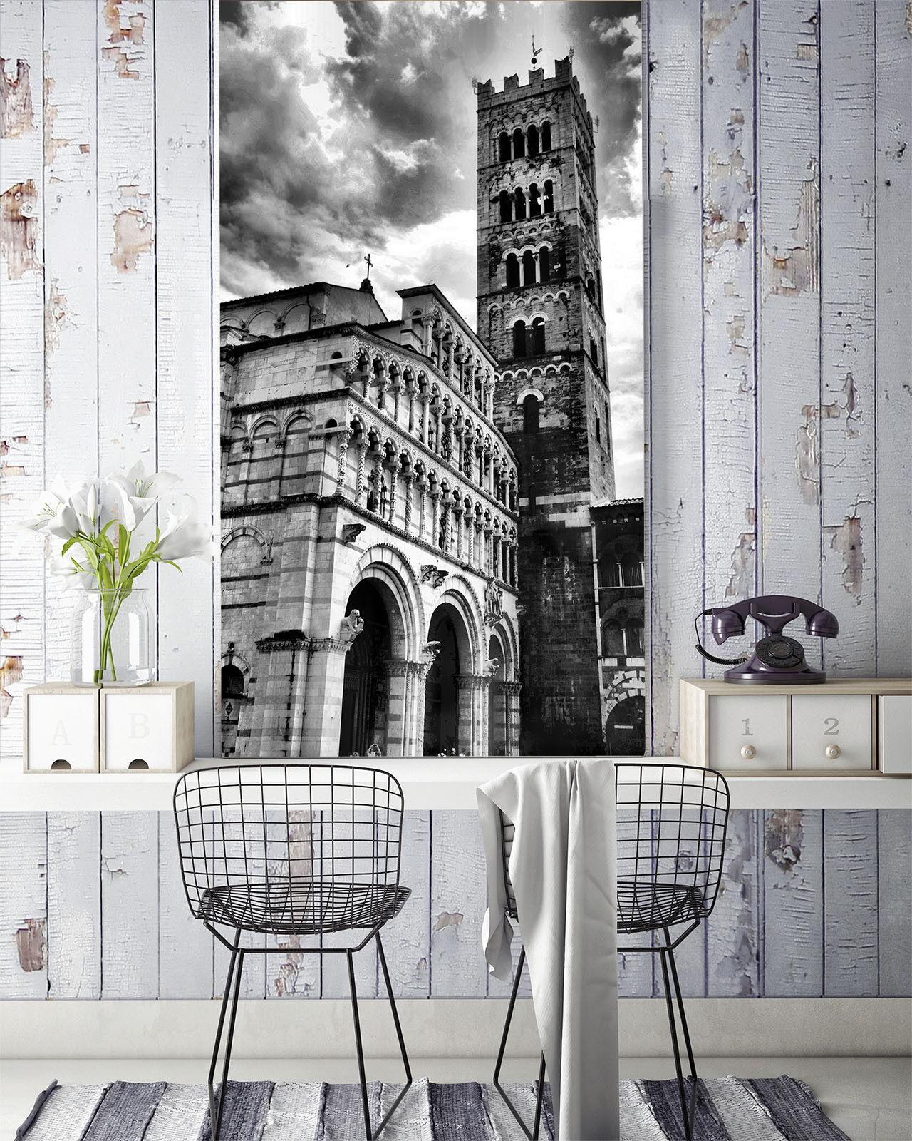 3D Grey Building Sky 45 Wall Paper Wall Print Decal Wall Deco Indoor Mural Lemon