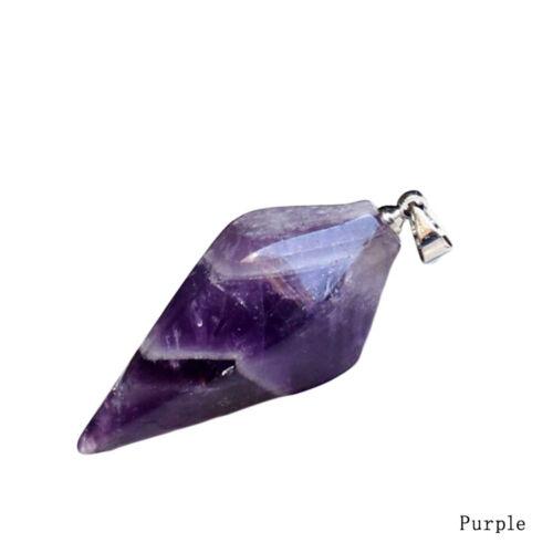 Gemstone Crystal Pendulum Healing Chakra Dowsing Reiki Pendant For Necklace