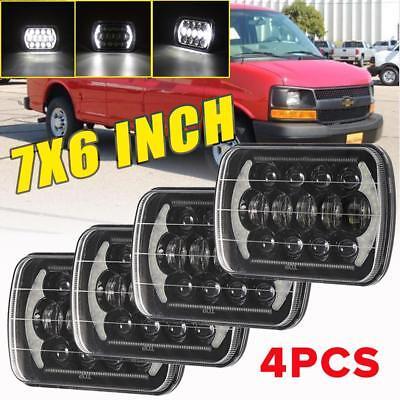 "7/""x6/"" 180W LED Headlight Hi//Lo Halo Ring DRL for Chevrolet GMC Jeep Cherokee XJ"