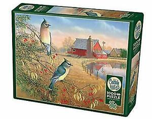 JackPine Puzzles 1000 pieces Jigsaw Puzzle - Cedar Waxwings CBL80189