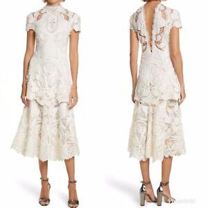 NWT-Jonathan-Simkhai-Lace-Applique-Midi-Dress-Sz-6-Ivory-1195