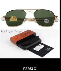 American-Optical-Gold-green-52mm-New