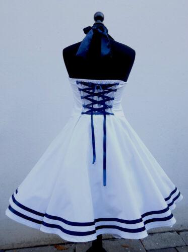 50er,Petticoat,Rockabilly,Party,Tanz,Vintage,PinUp,Sailor,Marine,Matrosen,Kleid.