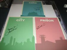 """Set of three 11""""x17"""" Walking Dead cast-signed Posters! Lori, Carol & Herschel!"""