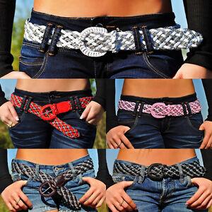 Sexy Cinturón Brillo Trenzado Cintura Hot Estrás Cuentas Nuevo de Mujer