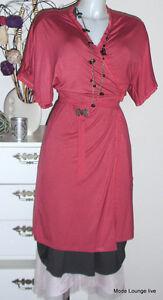 NOA-NOA-AVVOLGENTE-vestito-tg-XS-34-Basic-Viscosa-Licra-chic-rosa-nuovo