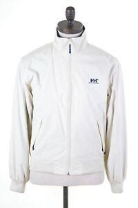 fbd519d9 HELLY HANSEN Mens Harrington Jacket Size 34 XS Off White Nylon IB09 ...