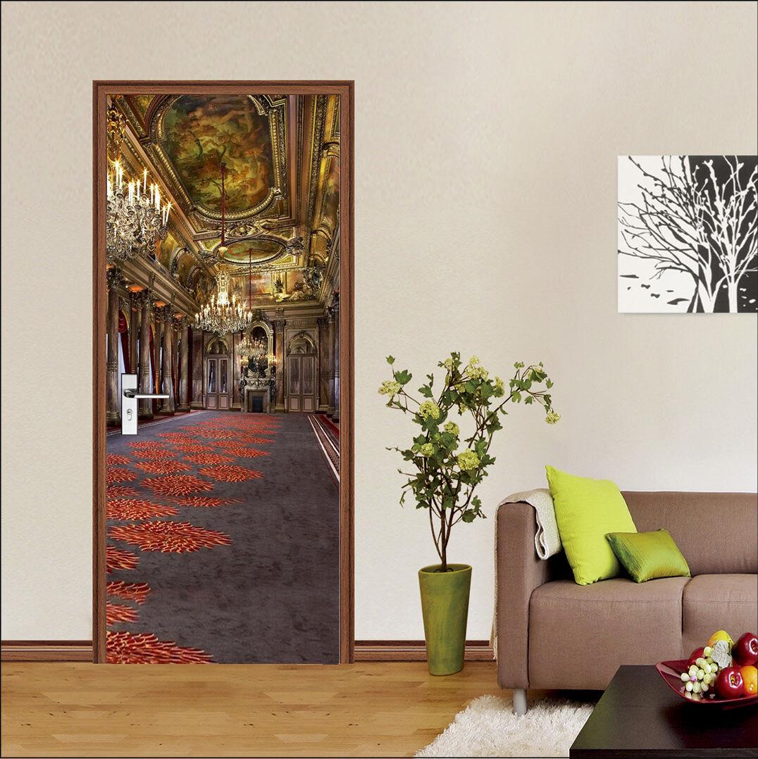 3D Muster 46 Tür Mauer Wandgemälde Foto Wandaufkleber AJ WALL DE Lemon
