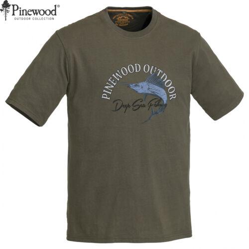 Pinewood 5420 Pesce T-SHIRT-Angel SHIRT ANGEL Outdoor Shirt-Taglia M-XXL