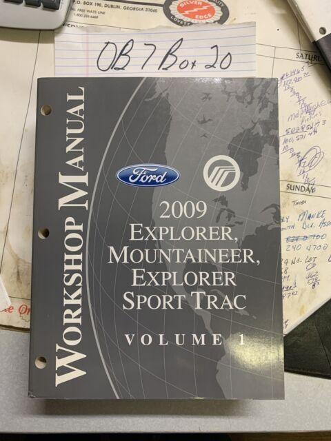 2009 Ford Explorer Mercury Mountaineer Explorer Sport Trac