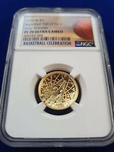 🌟2020-W Proof $5 Gold Basketball Hall of Fame NGC PF70 UC ER Basketball Label