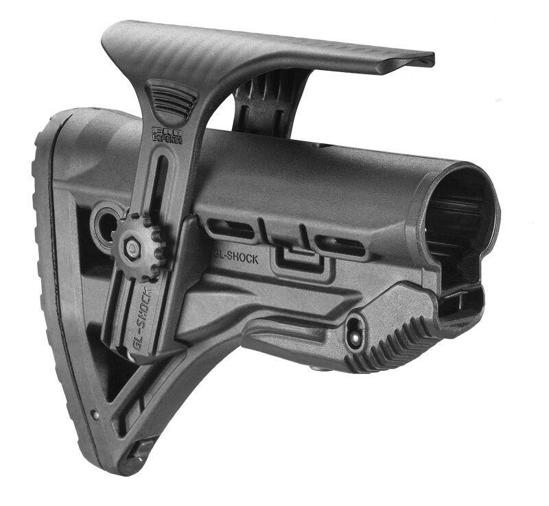 GL-Shock CP Fab Defense Negro Amortiguador culata con mejilla Pieza