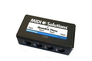 MIDI Solutions Quadra Thru is a 1-in 4-out MIDI Thru Box. free fast shipping