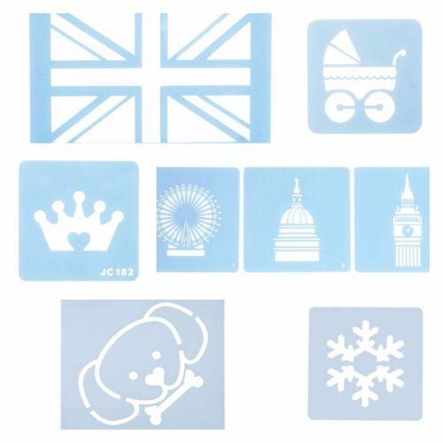 Gâteau Pochoirs-Union Jack-London Icônes-Landau-dog face-Couronne-Flocon de neige par CULPITT