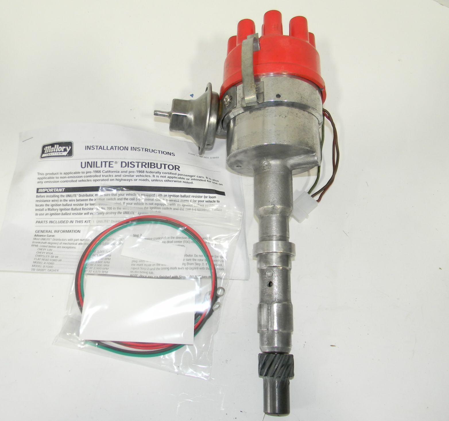 Distributor Unilite Electronic Ignition Series 47 Mallory 4760001 Ebay Timing Advance Stock Photo