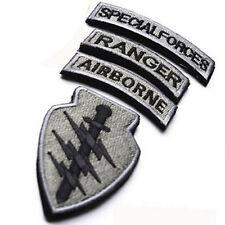 4-IN-1 set USA Flag U.S Airborne Special Forces RANGER MORALE BADGE PATCH