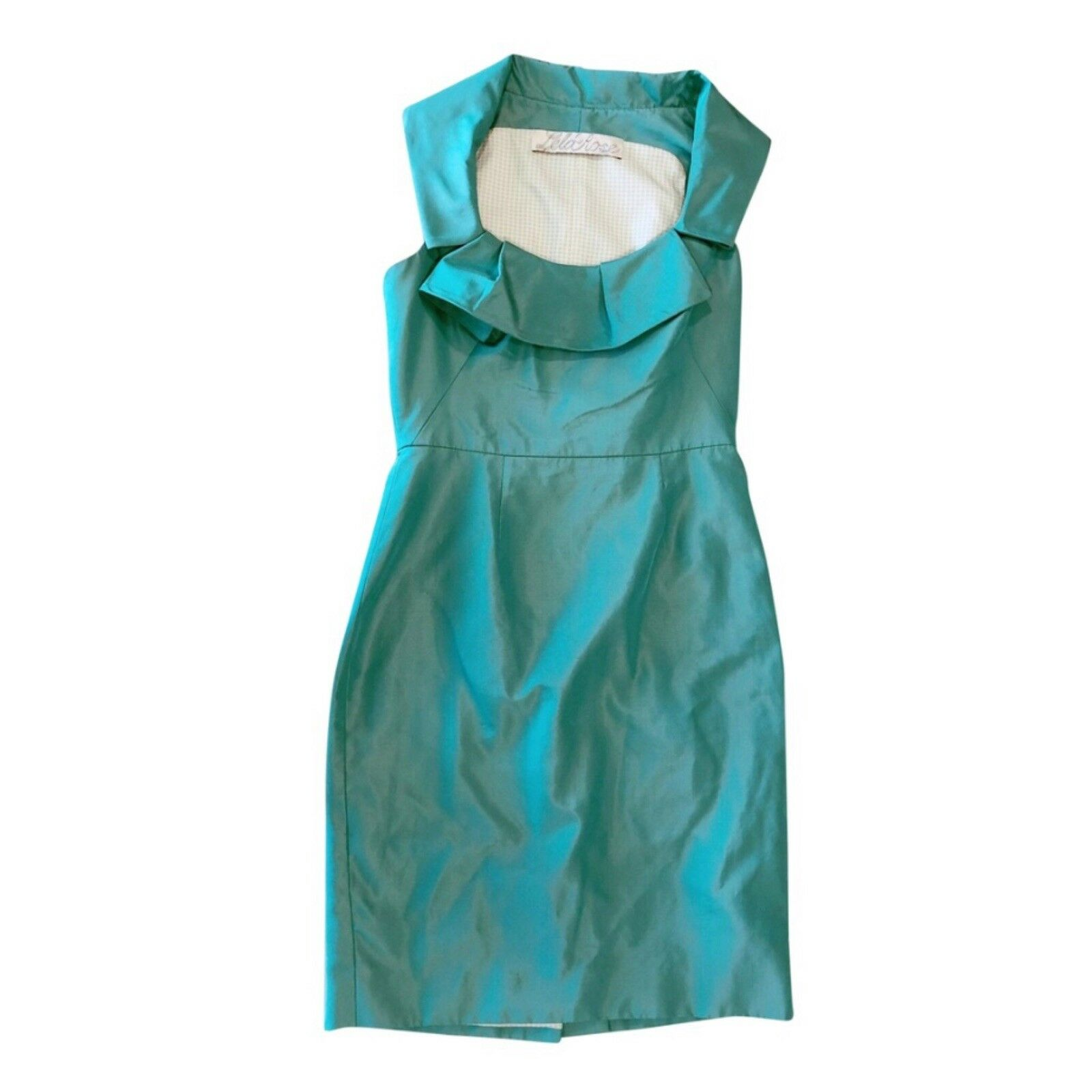 Lela Rosa Grün Silk Fitted Cocktail Sheath Dress SZ 4