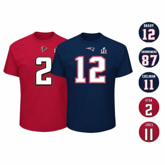 new concept 612b7 af615 New England Patriots vs Atlanta Falcons NFL Super Bowl LI 51 Jersey T Shirt  Men
