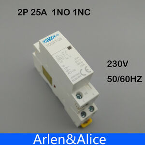 2P 20A 220V//230V 50//60HZ Din rail Household ac contactor 2NO/_CH