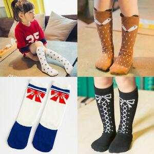 44a754c0f Image is loading Baby-Children-Girls-Toddler-Fox-Socks-Cotton-Knee-
