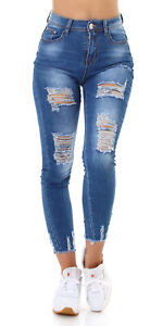 Jeans Women High Waist Skinny Jeans Denim Pants Used Look