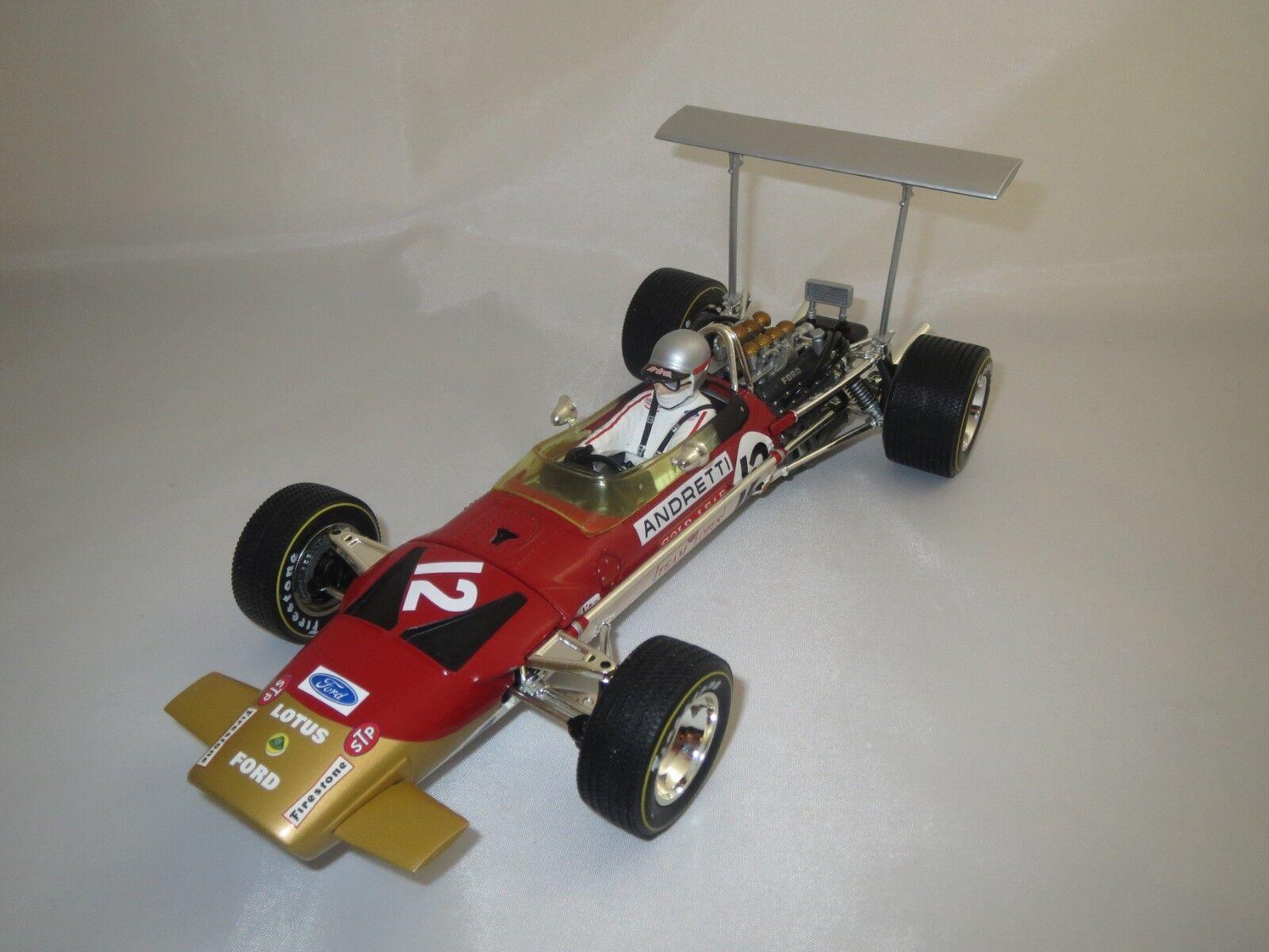 Quartzo Lotus 49b U.S.A G.P.  1968  Mario Andretti 1 18 sans emballage