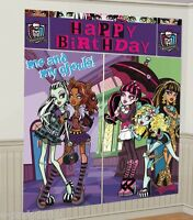 Monster High Wall Poster Decorating Kit (5pc) Birthday Party Supplies Scene