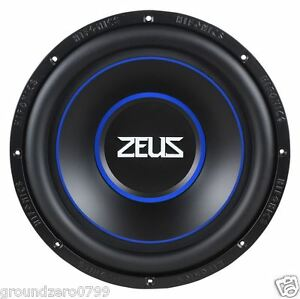 hifonics zeus zrx12d4 12 1000 watt sub woofer brand new. Black Bedroom Furniture Sets. Home Design Ideas