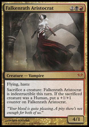 1x Falkenrath Aristocrat Dark Ascension MtG Magic Gold Mythic Rare 1 x1 Card